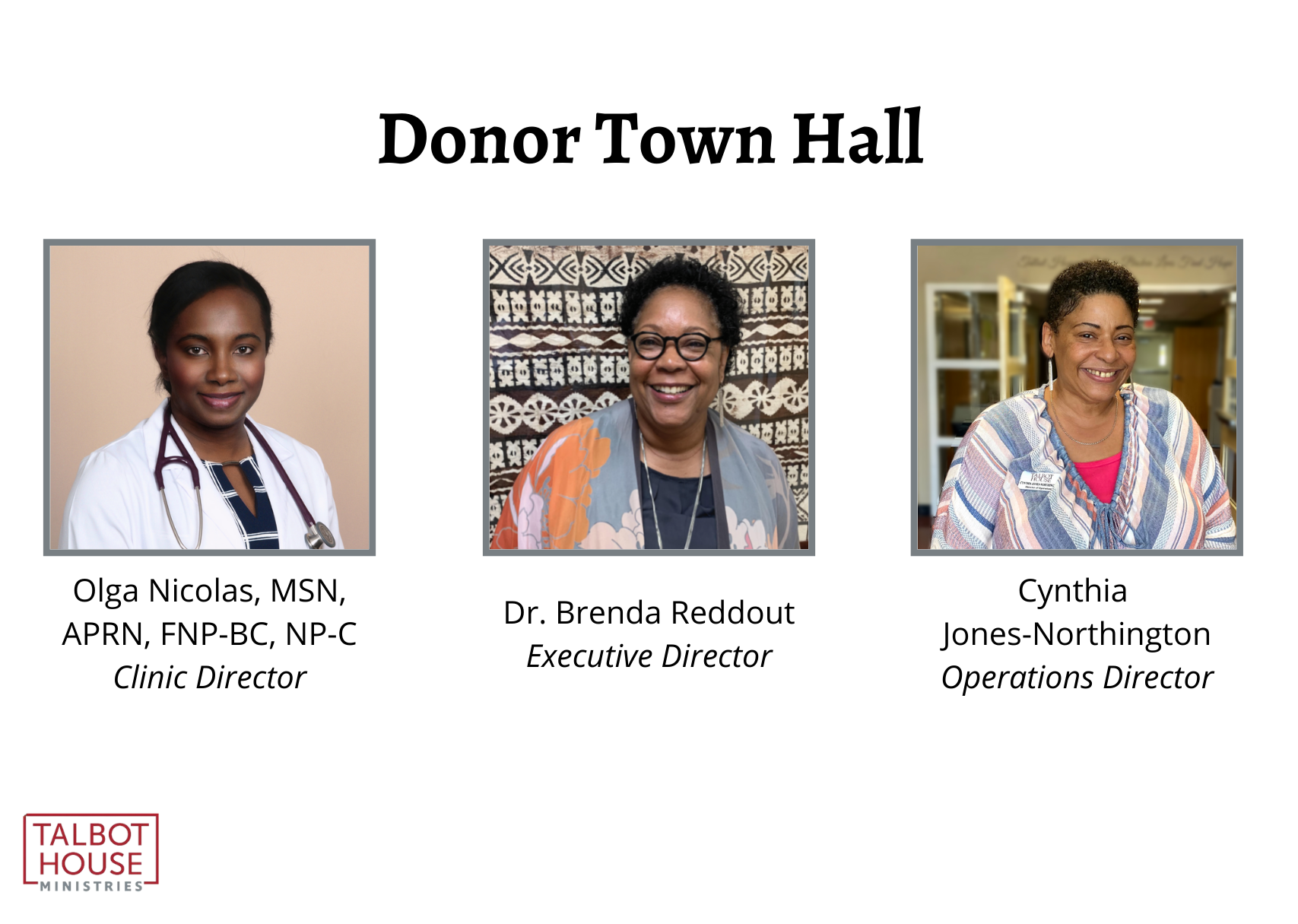 Your Donor Town Hall Invitation