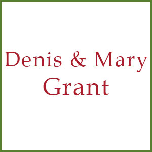 Denis and Mary Grant sponsor